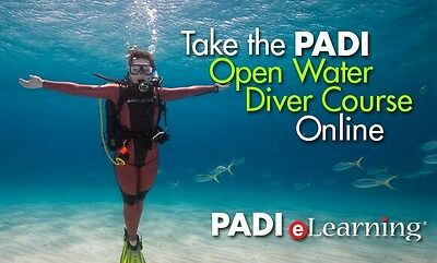 Padi Online Dive Class Open Water Scuba Certification Course Elearning