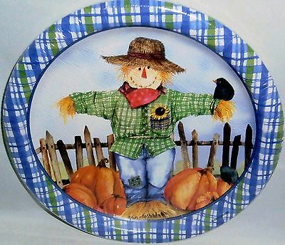 """Fall Paper Plates 10 ct   8 3/4"""" Plates  FALL SCARECROW"""