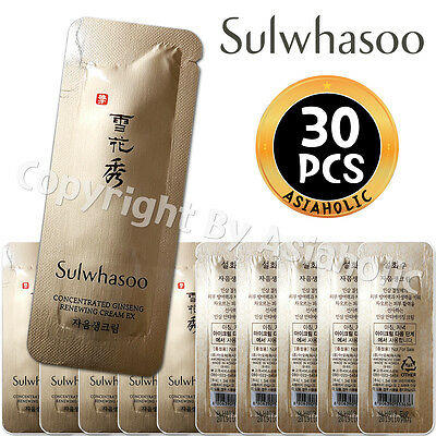 Sulwhasoo Concentrated Ginseng Renewing Cream 1ml x 30pcs (30ml) Sample Renewal