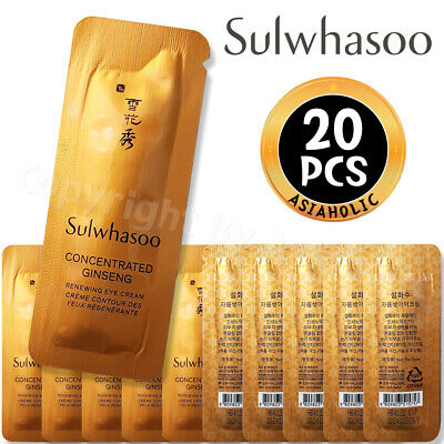 Sulwhasoo Concentrated Ginseng Renewing Eye Cream 1ml x 20pcs (20ml) Sample