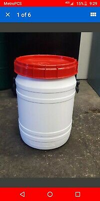 15 Gallon Barrels Open Top Food Grade HDPE # 2 Water Storage Containers Drums