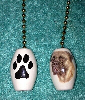 One Bullmastiff Dog Fan Pull With A Paw Print On The Back 1""