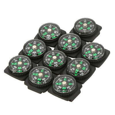 HOT 10PCS Precise Compass for Paracord Bracelet Outdoor Camping Hiking