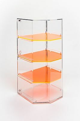 4-Shelf Retail/Bakery Display Case with Removable Shelves