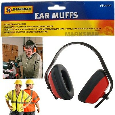 Ear Muffs Noise Control Protection Adjustable Head Safety Defender Gear DIY Muff