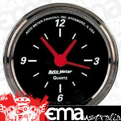 "Autometer Clock In Dash 2.1/16"" Quartz Movement With Second Hand Au1485"