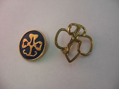 Two 2 Vintage Girls Scouts Girls Guides Brownie Pins Awards