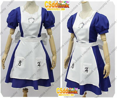 Alice Madness Returns Alice Cosplay Costume blue dress MM01