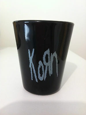 KORN Shot Glass 2 inch Classic Logo Shotglass NEW OFFICIAL MERCHANDISE Rare