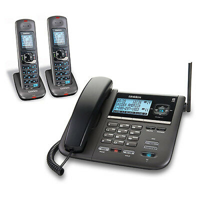 Uniden DECT4096-2 Expandable 2 Handset Corded / Cordless 2-Line Phone Combo New
