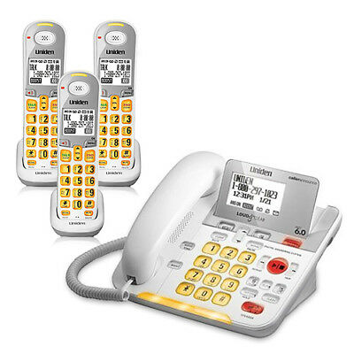 Uniden D3098-3 1.9GHz  3 Handset Corded / Cordless Phone DECT 6.0 Technology