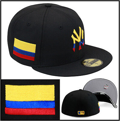 5fe6e8566797f New Era New York Yankees Fitted Hat Cap Colombia Colombian Flag copa  america wbc