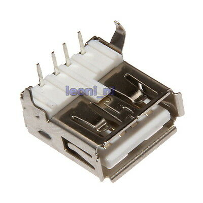 USB Type A Female 5-pin Socket SMT SMD Solder Angle Pins Assembly Connector