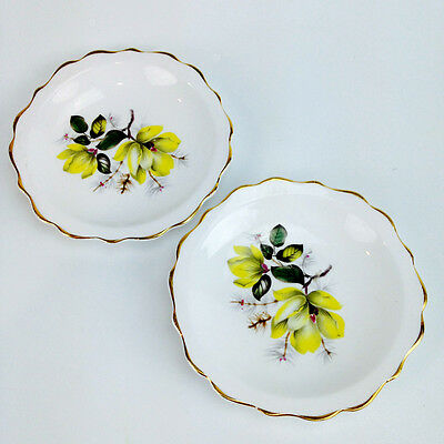 2 x Beautiful REGENCY Bone China Pin Dishes Made in England Vintage