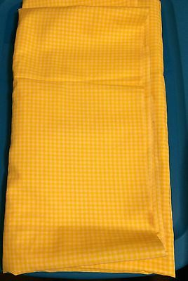 "90/'s By 1//2 Yd Yellow /& White 1/"" Cotton Gingham Vintage 1970/'s N1452"