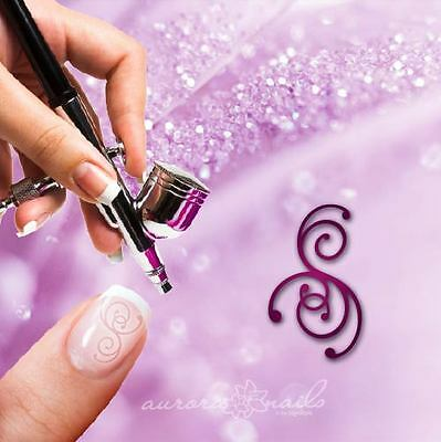 Airbrush sticky templates F311 NAILART Ornament Floral Flourish Tendril 20x