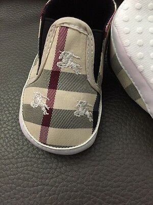 Baby girl Burberry shoes 6 12months old