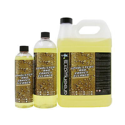 Carpet and upholstery auto detailing cleaner with stain remover shampoo