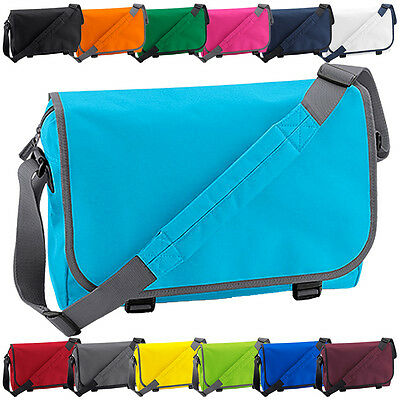 Plain Messenger Bag - Back To School College Retro Unisex Shoulder Laptop Bags