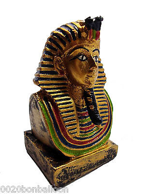 "Egyptian 3D King Tut Head Face Pharaoh Figurine Statue Ancient 3.3"" Sculpture"