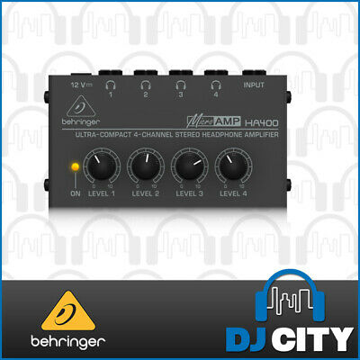Behringer HA400 Compact 4 Channel Stereo Headphone Amplifier - BNIB - DJ City...