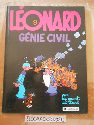 Eldoradodujeu   Bd - Leonard 9 Genie Civil - Dargaud 1985 Be+