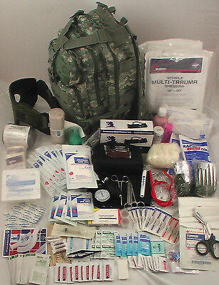 Level 3 Tactical Trauma First Aid Kit / Backpack Survival - Emergency Medical