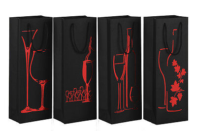 New 4 X Red Wine Bottle Tote Bag Chirstmas Party Business Gift Wine Carrier Box