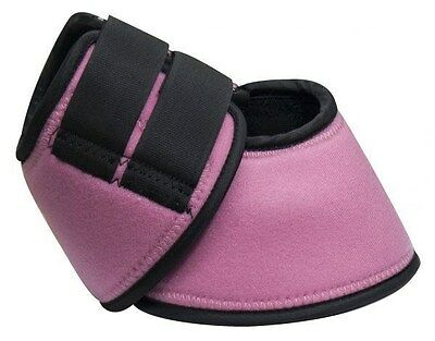 MEDIUM PINK Neoprene No Turn Horse Bell Boots w/ Double Velcro! NEW HORSE TACK!!