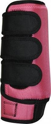 PINK Pair of Lined Neoprene Horse Sport Boots size LARGE by Showman!! NEW TACK!!