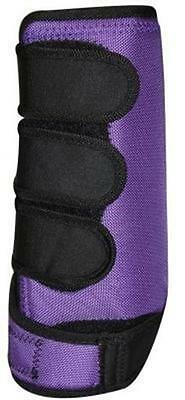 PURPLE Pair of Lined Neoprene Horse Sport Boots size MEDIUM by Showman! NEW TACK
