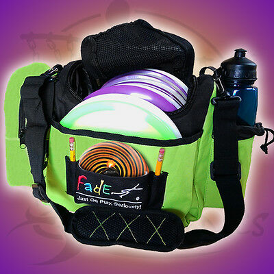 New Electric Lime Fade Gear Crunch Box Disc Golf Bag Holds About 12
