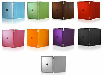 Magnetic Smart Cover + Back Slim Design Hard Case For Apple iPad 1,2,3