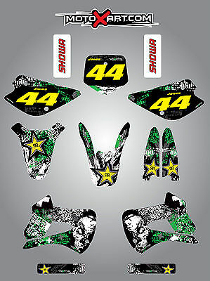 Kawasaki KX 85 1998 - 2013 Full custom graphics kit GRAFFITI  Style sticker kit