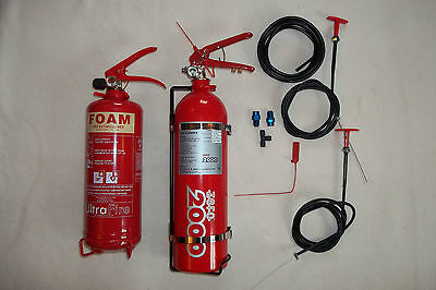 RALLY EXTINGUISHER KIT-Stage rally/race/kitcar/trackday/motorsport