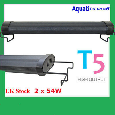 "T5 Aquarium Light 48"" Fish tank Overhead Twin tubes 120cm 140cm"