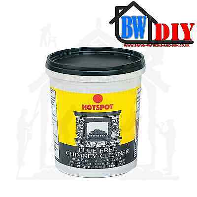 Hotspot Flue Flu Free Chimney Cleaner 750G Removes Tar & Creosote Deposits Fire