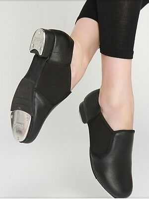 NEW Leather Slip On Quality Tap Shoes in Black*