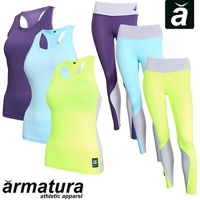 Ladies Gym Outfit Leggings & Vest Matching Set Yoga Womens Fitness Sports Wear