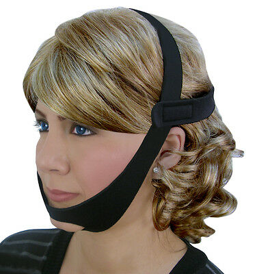 NEW CPAP Chin Restraint Chin Strap Black Support for CPAP sleep apnea
