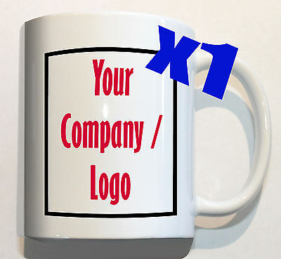 YOUR COMPANY LOGO on 1 mug personalised corporate custom promotion