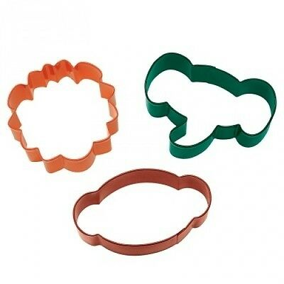 Wilton Metal Cookie Cutter Set, Jungle 3 ct. 2308-0916. Free Delivery