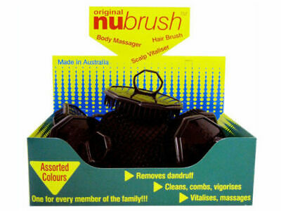 Nu Brush - Box of 12 Assorted Coloured BRAND NEW