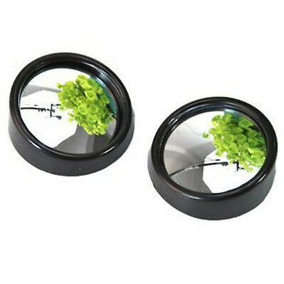 New 2Pcs Car Vehicle Wide Angle Round Convex Mirror Blind Spot Auto Rear View