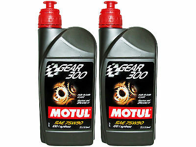(2L=2.11 Qt) Motul Gear 300 75W90 100% Synthetic Transmission Lubricants Oil