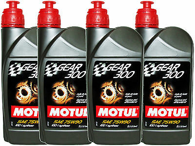 (4L=4.23 Qt) Motul Gear 300 75W90 100% Synthetic Transmission Lubricants Oil