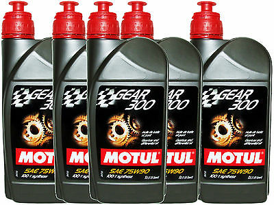 (5L=5.28 Qt) Motul Gear 300 75W90 100% Synthetic Transmission Lubricants Oil