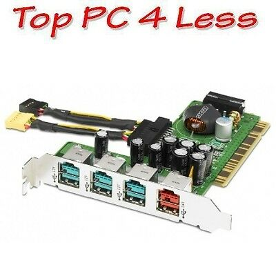 HP 4-Port powered USB card with cable 445776-001