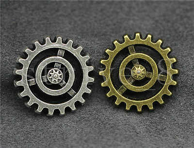 10/40/200pcs vintage gear cog steampunk grunge scrap booking card craft DIY 17mm