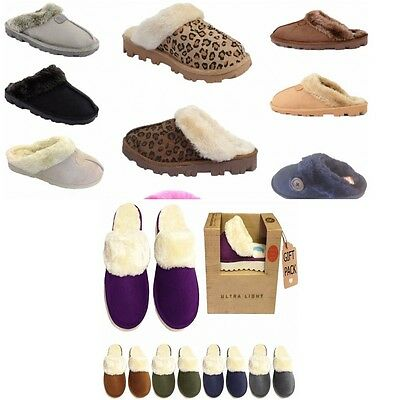 Ladies Womens Winter Fur Lined  Luxury Mules SLIPPERS  Jyoti Libby